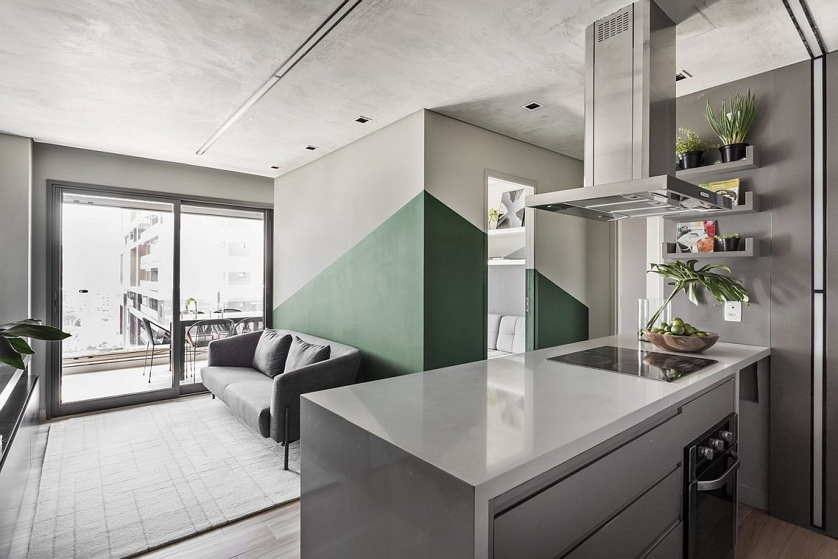 Use-of-green-along-with-burnt-cement-creates-a-modern-industrial-style-in-the-chic-Sao-Paulo-Apartment-87451