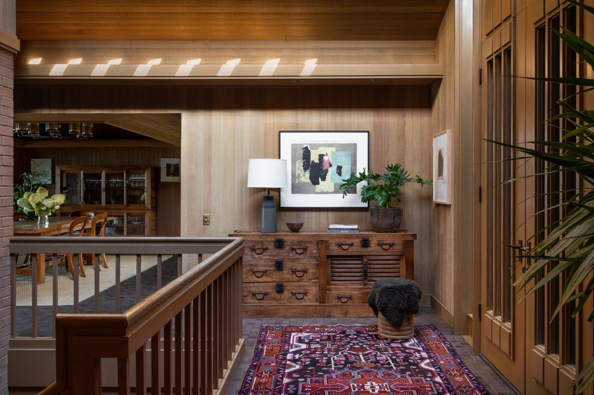 Warm-wooden-walls-lovely-carpets-and-intricate-details-give-this-renovated-mid-century-modern-home-a-cabin-style-interior-21629