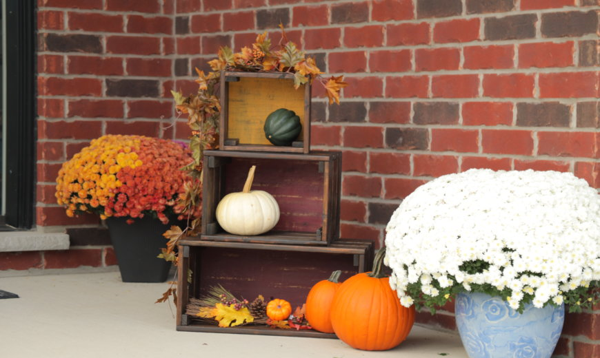 DIY Fall Wooden Crates for the Perfect Porch Decor