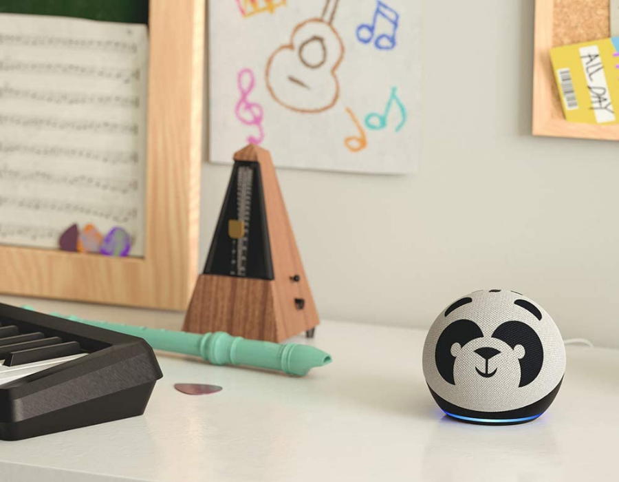 Amazon Echo Kids+ In Panda pattern