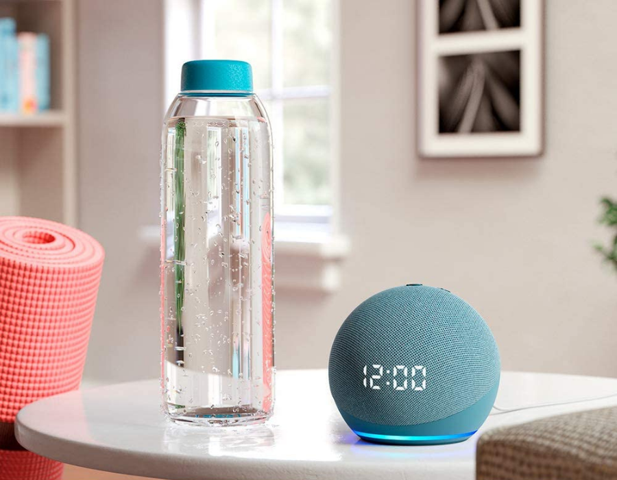Amazon LED Echo Dot in twilight blue