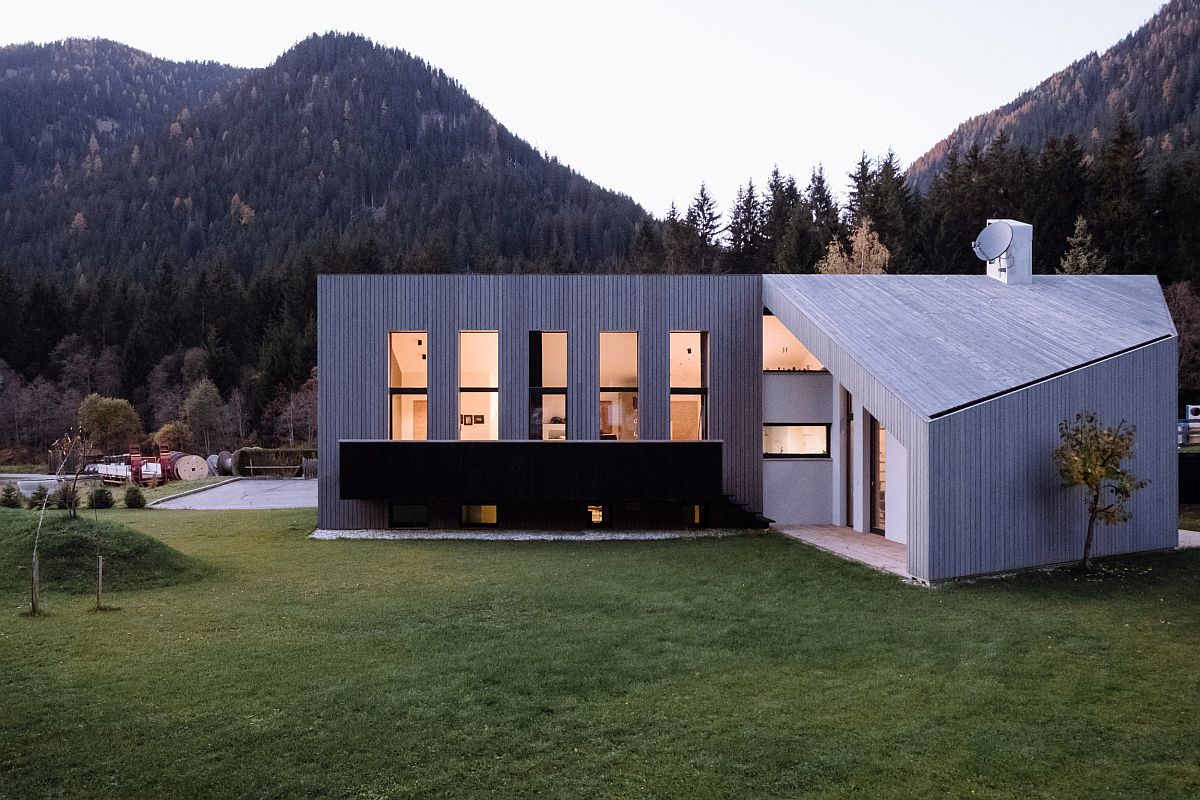Beautiful and modern home in Italy built on protected landscape