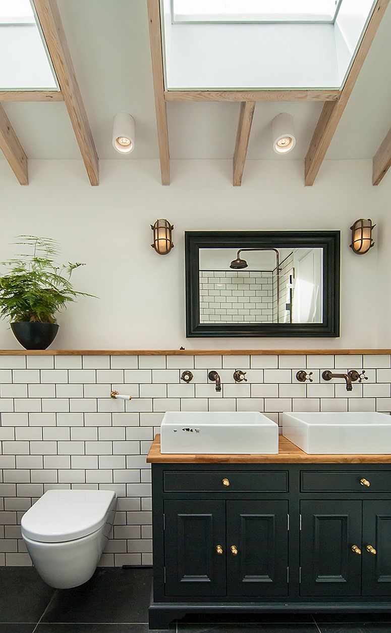 Brass-fitting-skylight-and-custom-vanity-for-the-new-bathroom-inside-the-London-home-26759