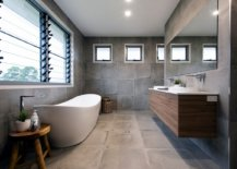 Dashing-contemporary-bathroom-in-gray-with-a-white-freestanding-bathtub-49282-217x155