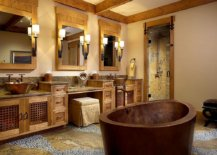 Dashing-copper-soaking-tub-is-perfect-even-for-the-cabin-style-bathroom-58155-217x155
