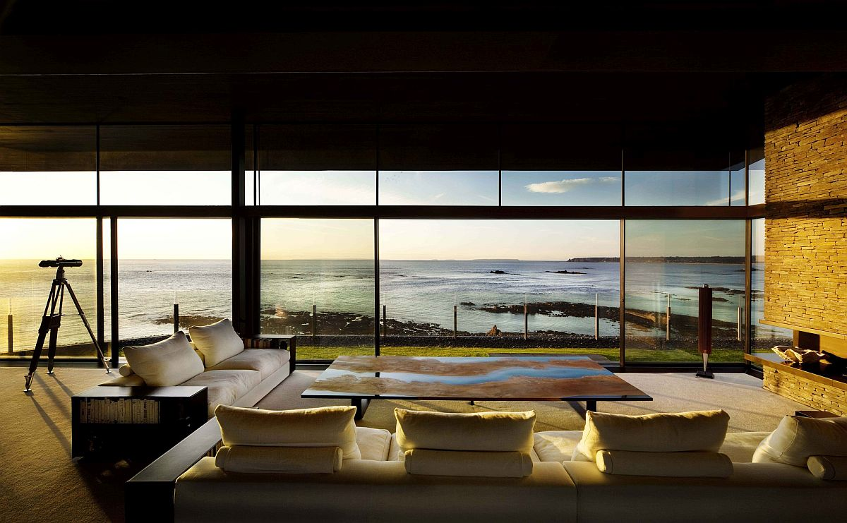 Dramatic sea views and lovely sunsets create a magical living space on the Jersey coastline