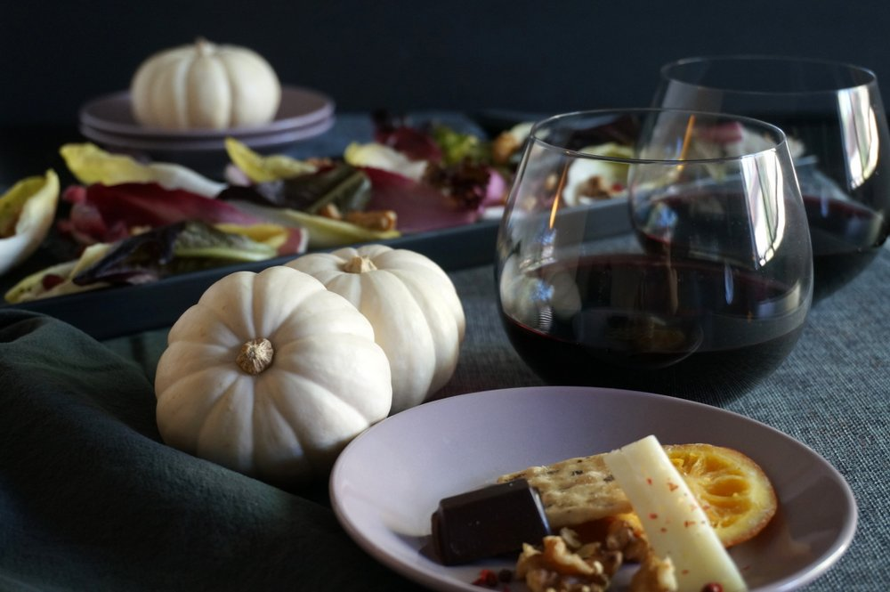 Elegant and modern Halloween tablescape by Kate Simmons