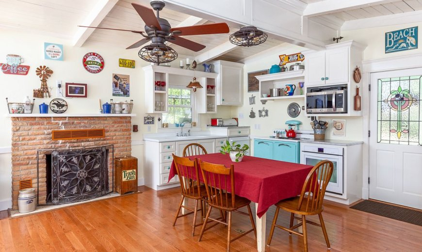 Farmhouse Kitchens with a Splash of Color: Perfect Kitchens for a Fun Fall
