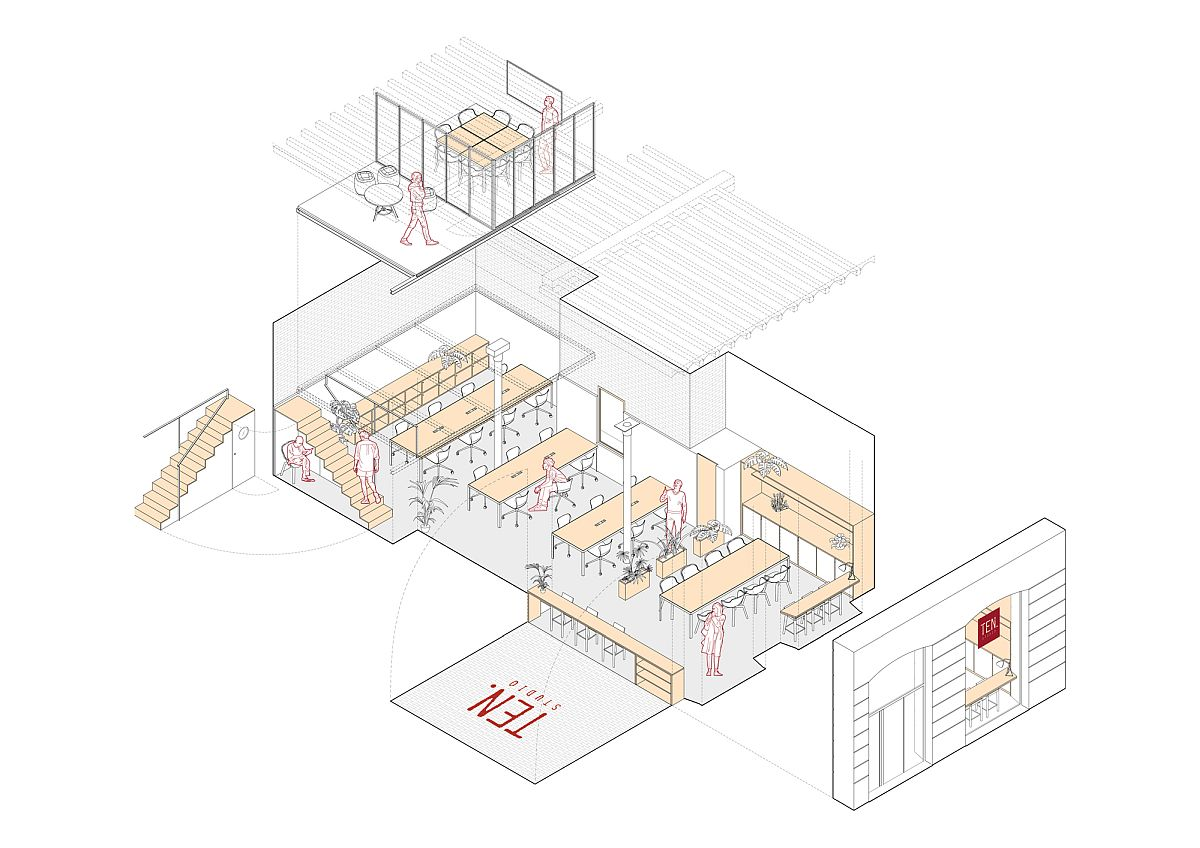 Floor plan of new TEN Studio in Spain