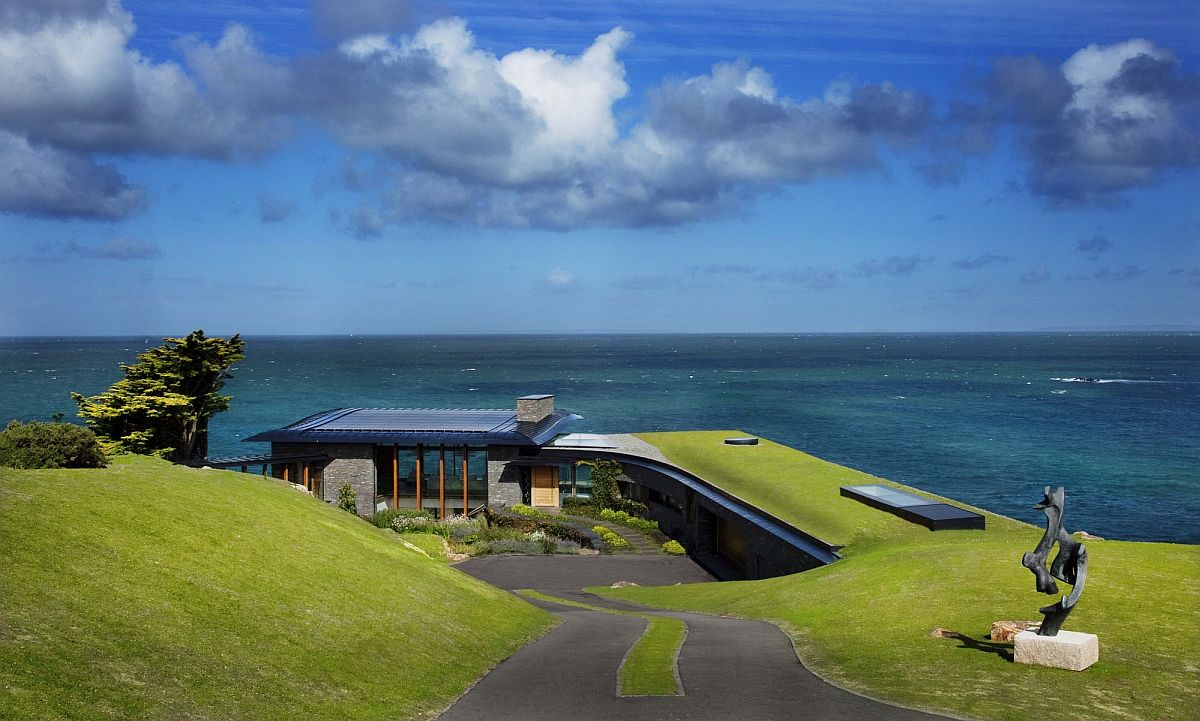 Green roof becomes a part of the home and creates a link between the residence and the landscape