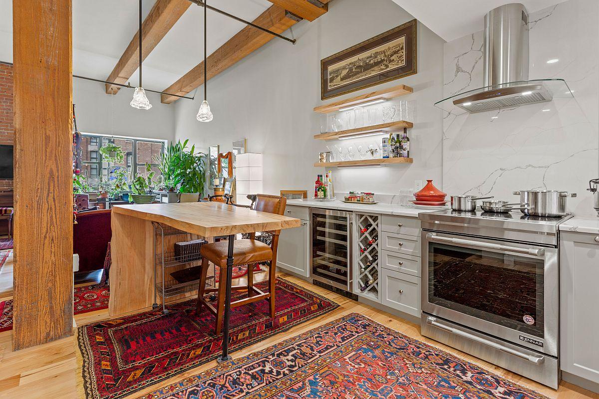 Innovative floating kitchen island that feels like a work of art!