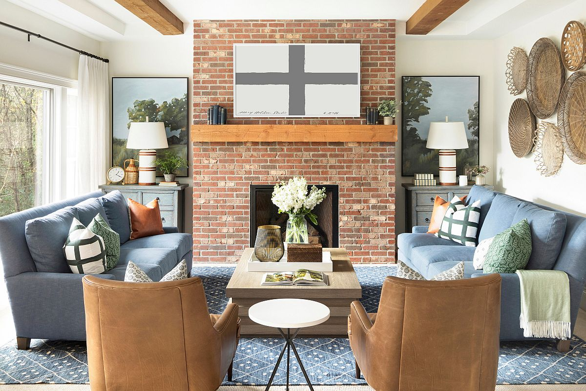 Lovely-brick-fireplace-is-the-perfect-focal-point-for-this-small-farmhouse-style-living-space-97914