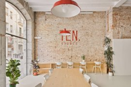 1930's Art Shop in Spain Transformed into a Fabulous Modern Office