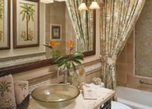 Pattern-filled-tropical-style-bathroom-in-green-with-lovely-sconce-lights-20651-217x155