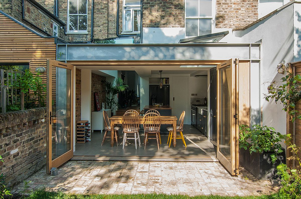 Oak, Steel and Glass Shape Gorgeous Rear Extension of Stoke Newington Home