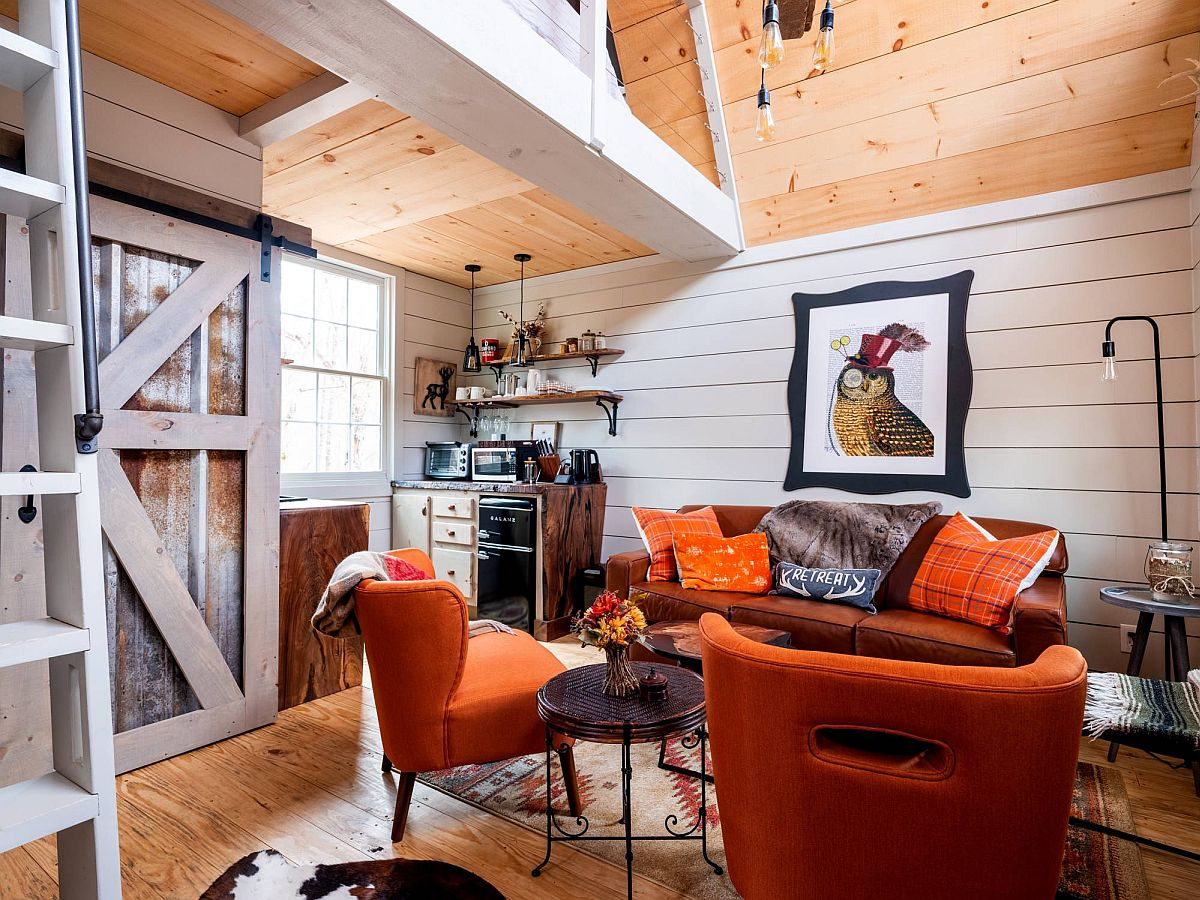Small-cabin-style-rustic-bedroom-in-white-and-wood-with-cozy-decor-additions-61256