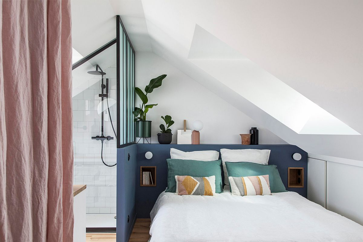 Smart-color-blocks-bring-visual-contrast-to-this-tiny-white-bedroom-with-bathroom-next-to-it-68033