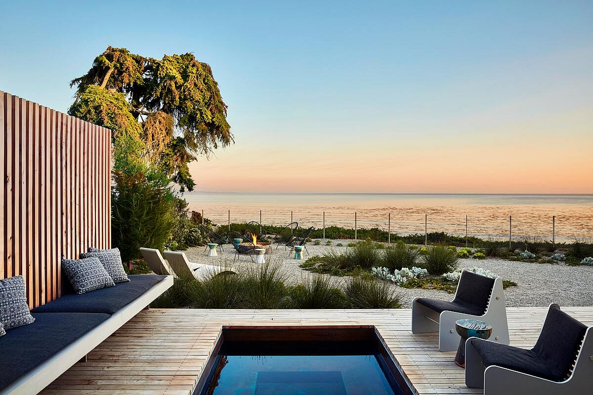 Stunning view of the Pacific from the relaxing backyard of the Santa Cruz home