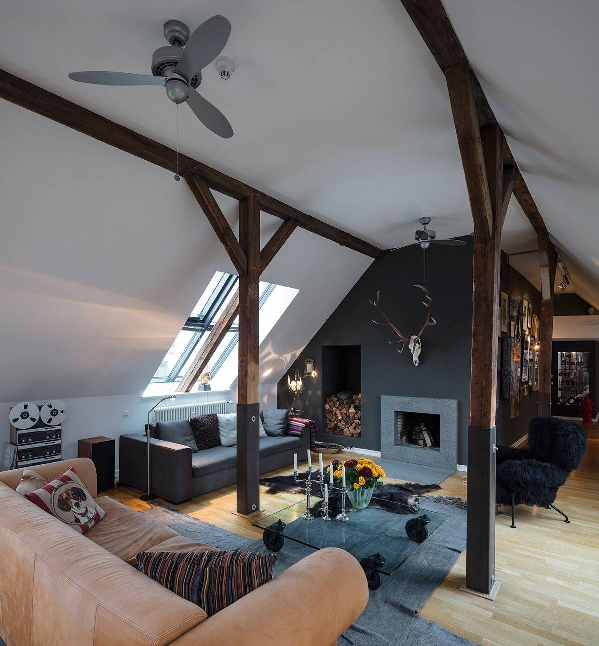 Wooden-beams-and-skylight-add-to-the-appeal-of-this-small-rustic-style-living-room-31097