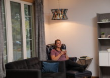 Jess with finished hanging pendant lamp