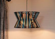 finished DIY pendant lamp