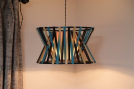 Upgrade Your Lighting With A DIY Paint Stick Pendant Lamp