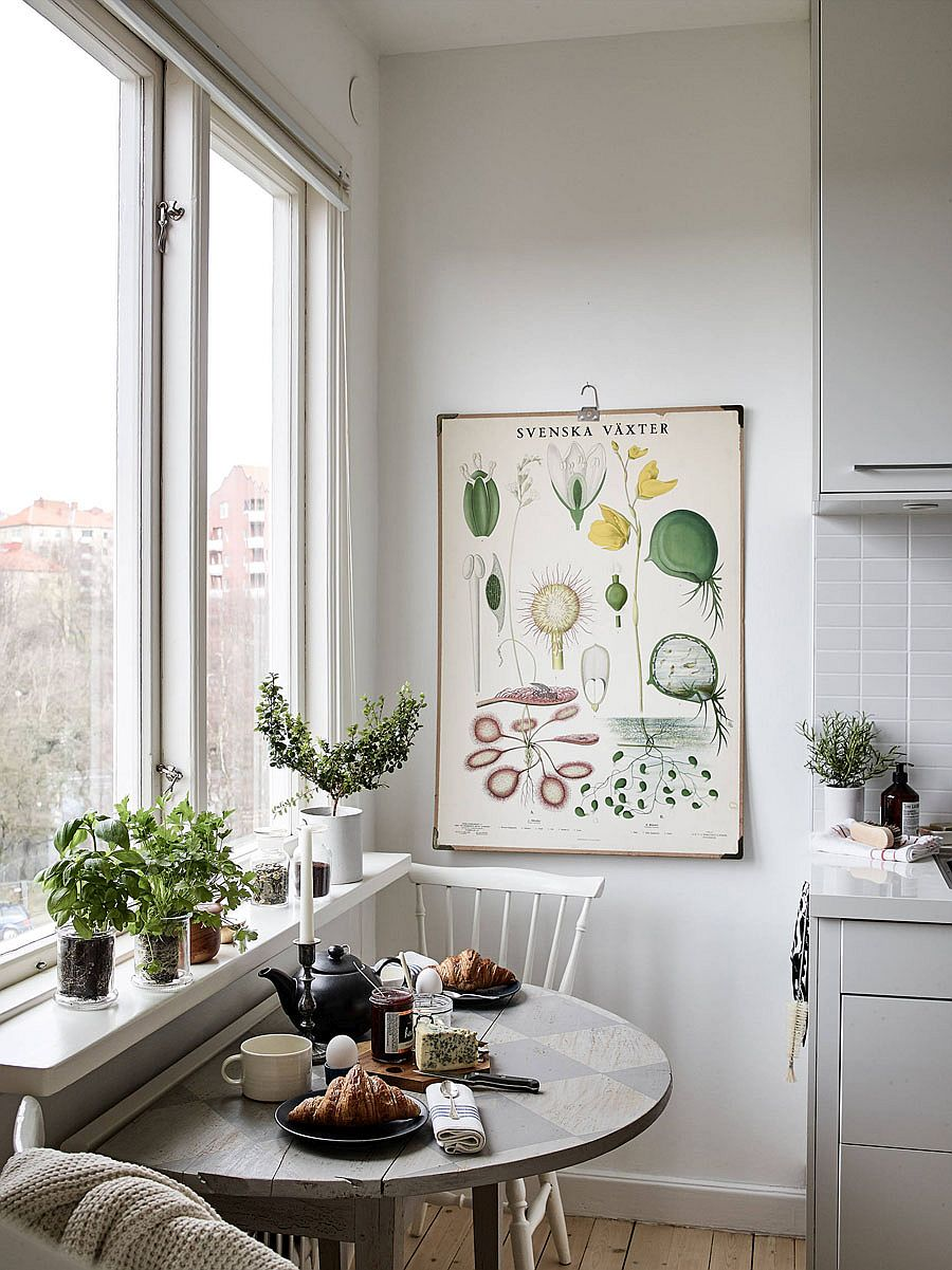 Beautiful breakfast zone for the small home with Scandinavian style