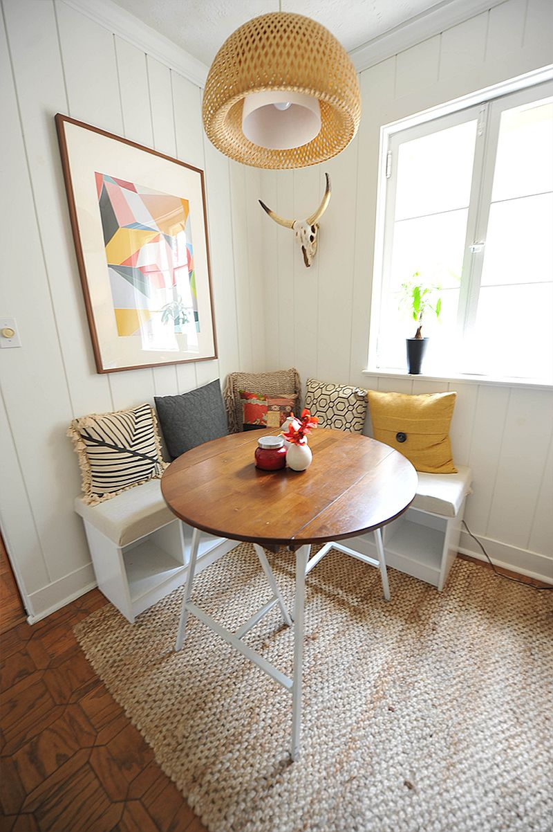 Finding space for the small breakfast zone inside the kitchen