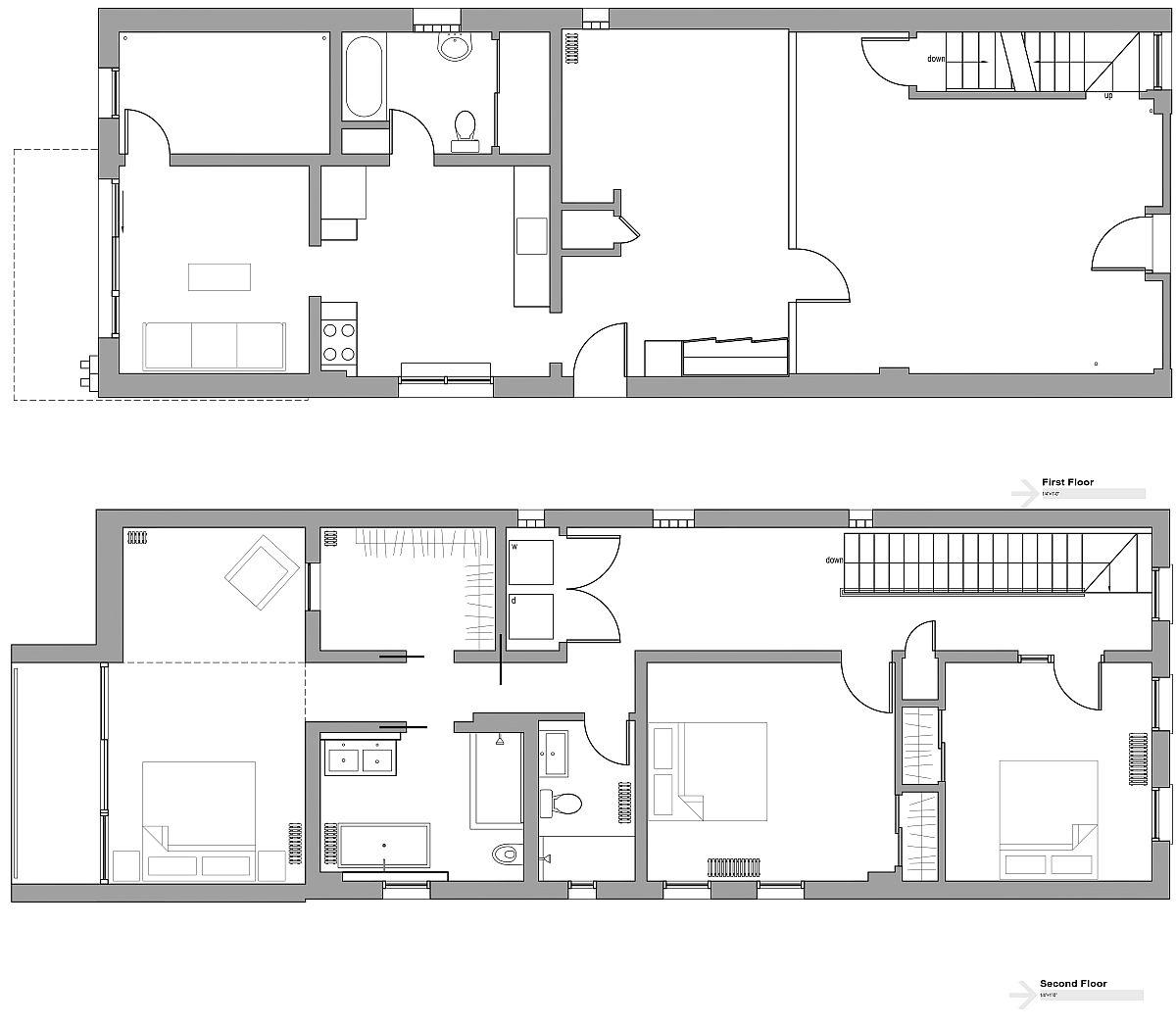 Floor plan of the revamped Cortez Street House