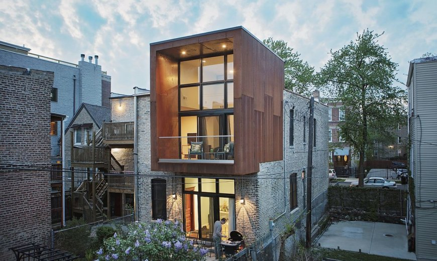 Corten Addition Transforms Butcher Shop in Chicago into a Modern Home