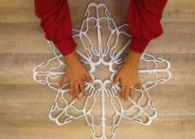 snowflake hanger formation secured with zip ties