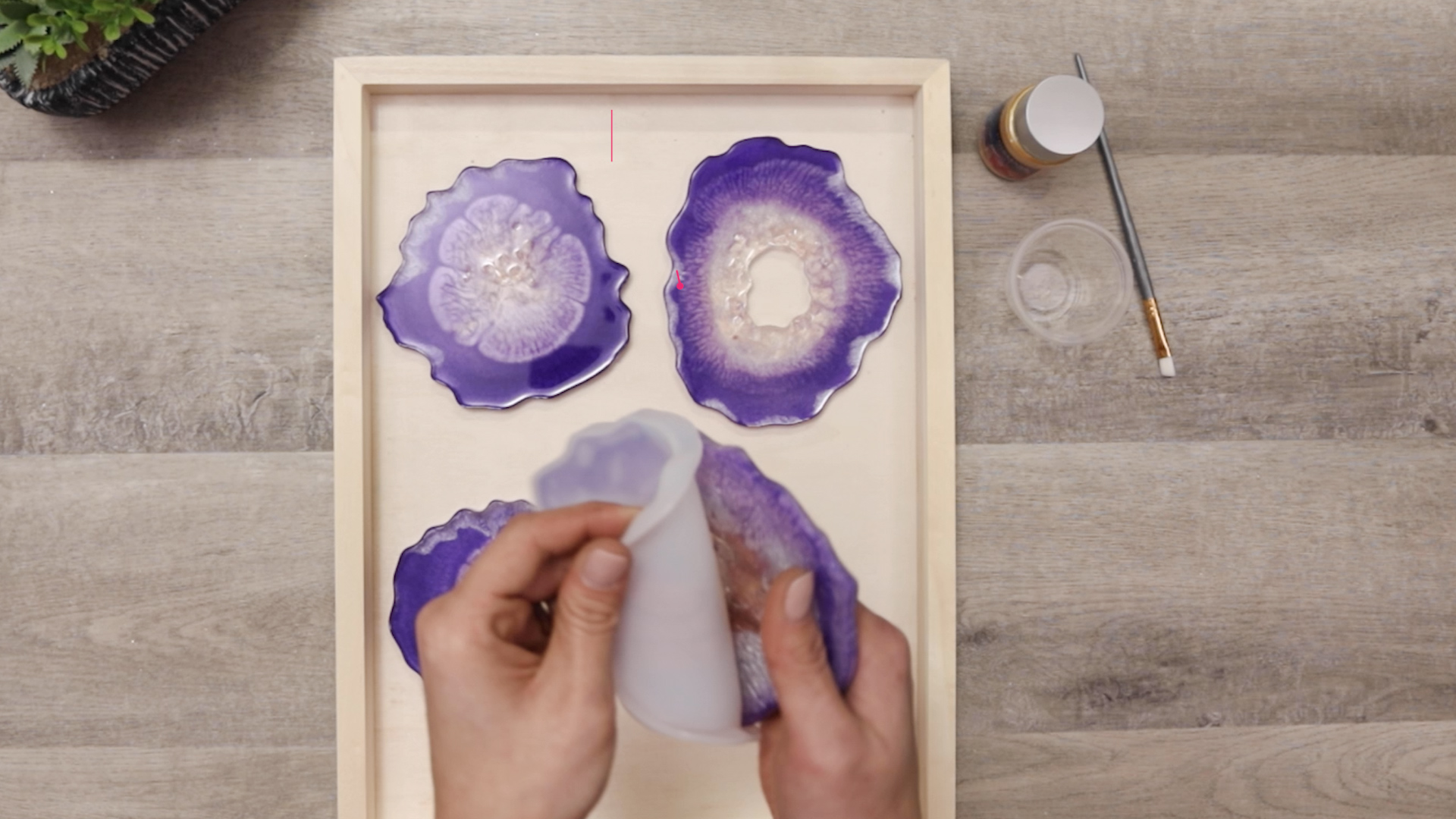 popping coasters out of resin molds