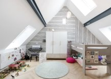 Simple-black-and-white-wallpaper-with-fun-stripes-add-pattern-to-this-attic-kids-room-without-altering-the-color-scheme-17835-217x155