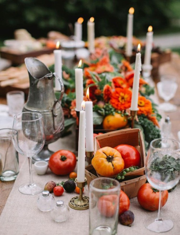 an edible thanksgiving table arrangement