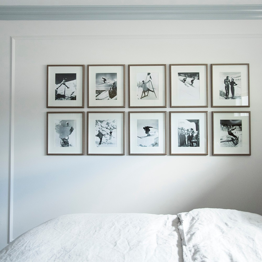 black and white series grid style wall gallery