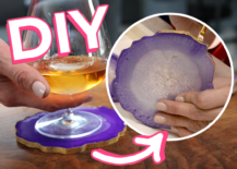 Decoist DIY: Geode Resin Coasters