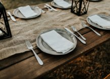 neutral linen and theme for thanksgiving dinner