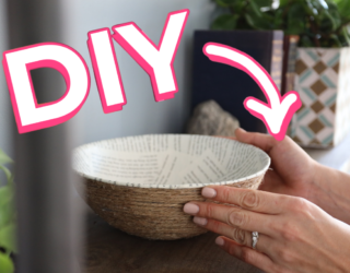DIY Book Page Rope Bowl is Perfect for Your Bookshelf