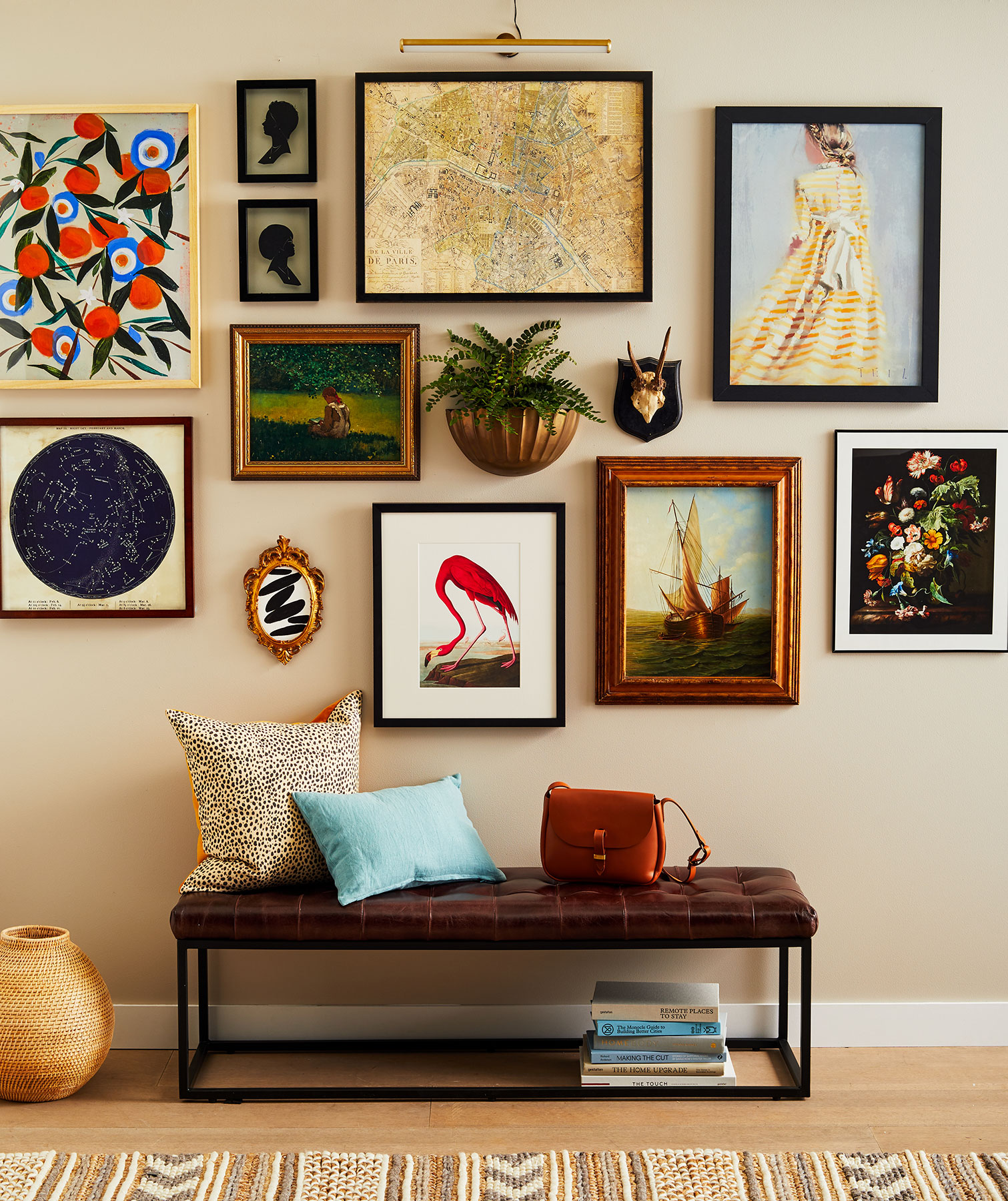 A Gallery Wall Layout Is The Way To Add Personality To Any Room
