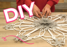Decoist DIY: Coat Hanger Snowflake