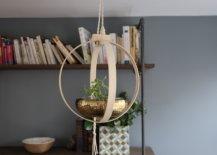boho hanging planter beauty shot