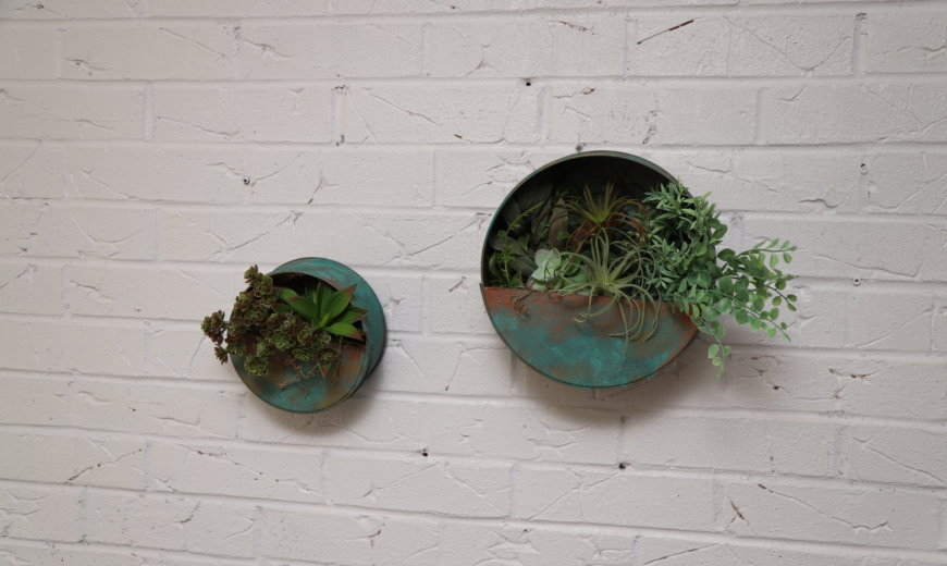 Floating Patina Wall Planter To Liven Up Any Room