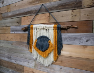 A Boho-Chic DIY Knot and Tassel Hanging Wall Decor