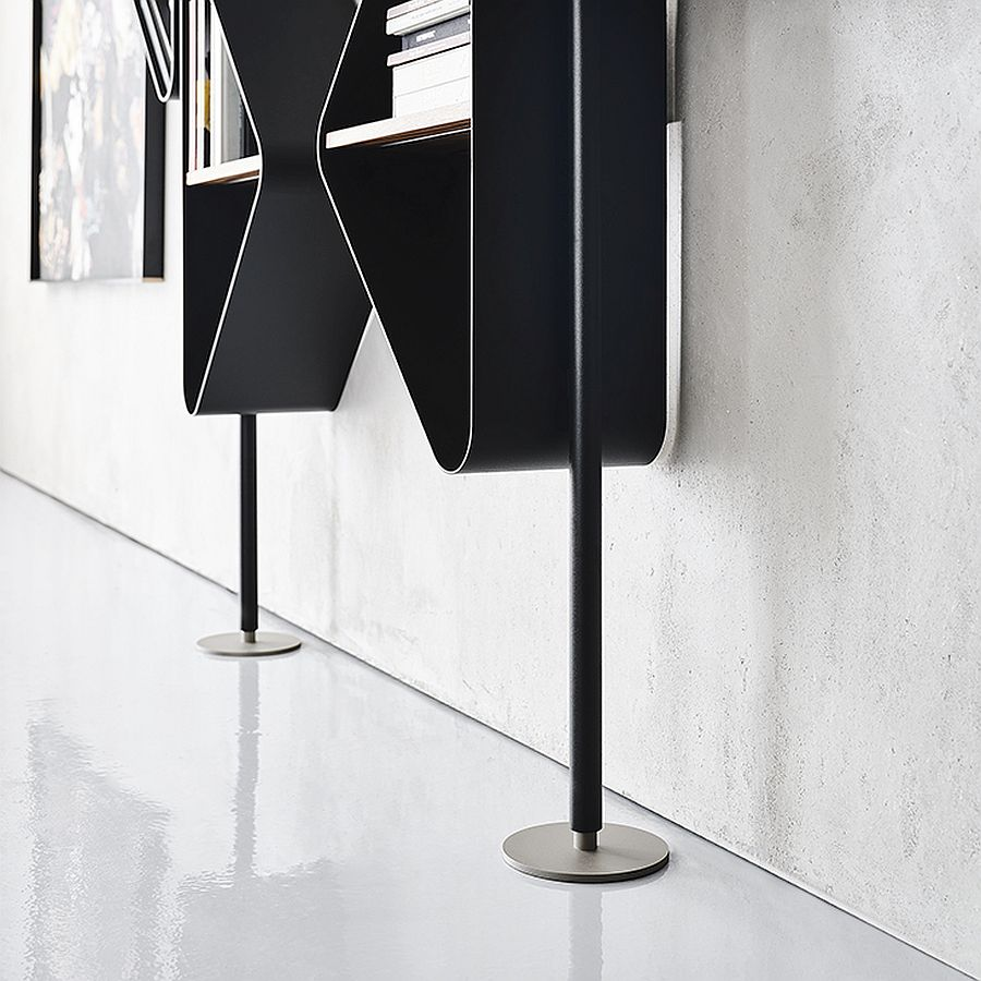 Base of the Spinnaker bookcase stand by Cattelan Italia