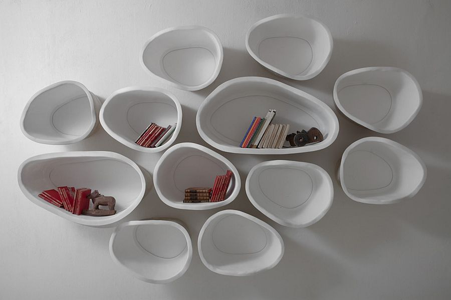 Beautiful modular shelves can be placed in multiple compositions