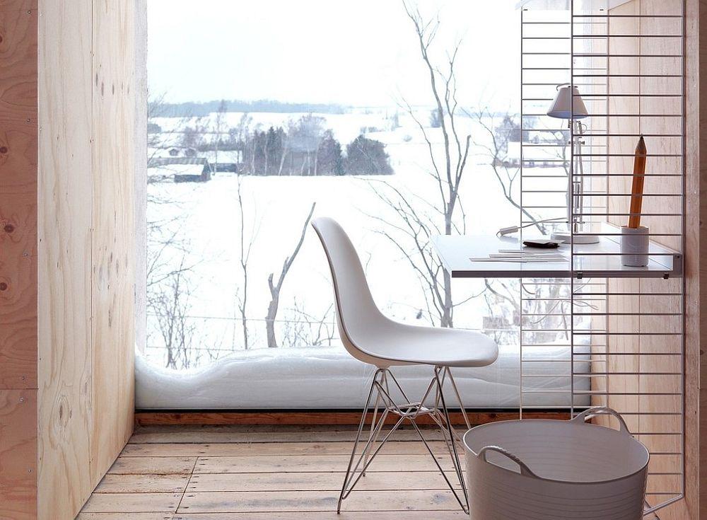 Bjorn Dahlström and Anna von Schewen deigned the workspace around iconic String shelf