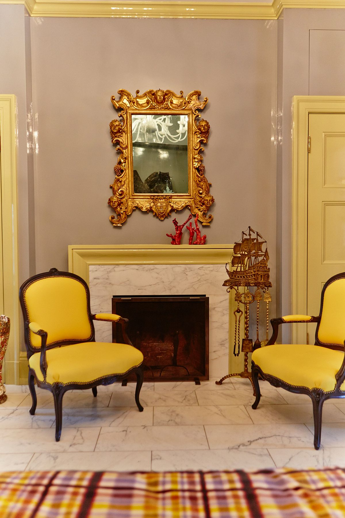 Burst of vibrant yellow can be used in a living room of any style and size
