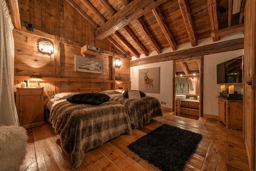 Classic chalet vibe is coupled with modern comfort at the brilliant alpine chalet