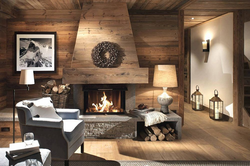 Cozy and comfortable living room with a gorgeous fireplace at its heart