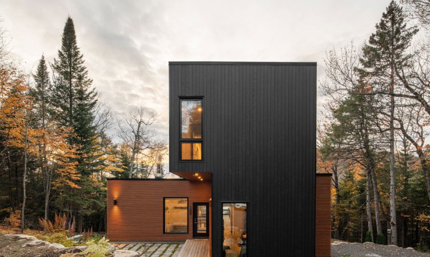 Five Factory-Built and Assembled Modules Bring Sustainability to This Québec Home